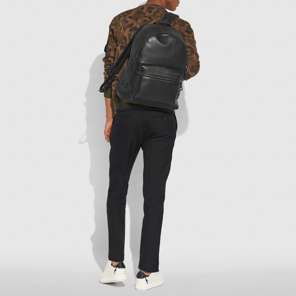 Coach League Backpack With Coach Link Detail Alternate View 3