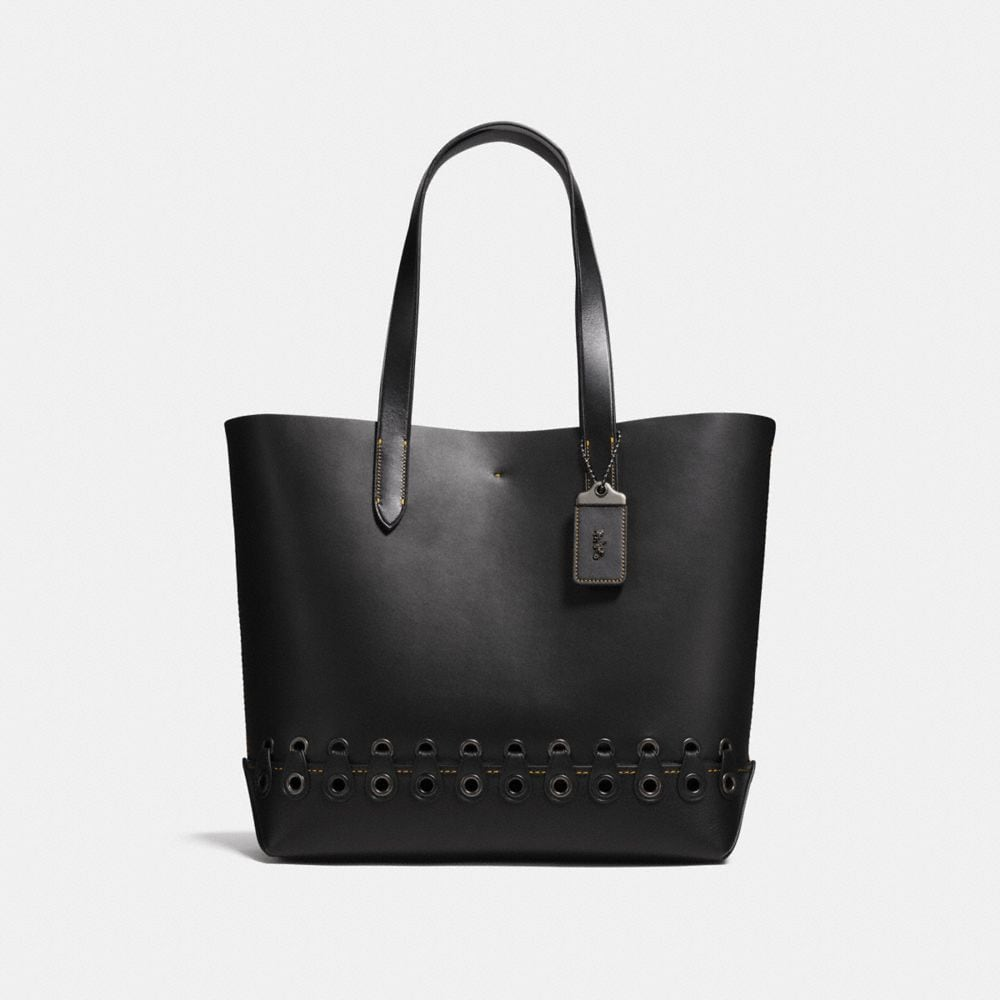 GOTHAM TOTE WITH COACH LINK DETAIL