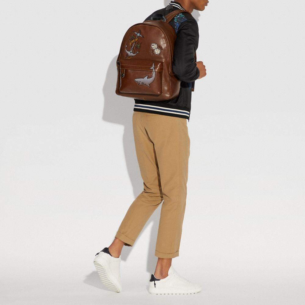 Coach Campus Backpack With Tattoo Tooling Alternate View 3