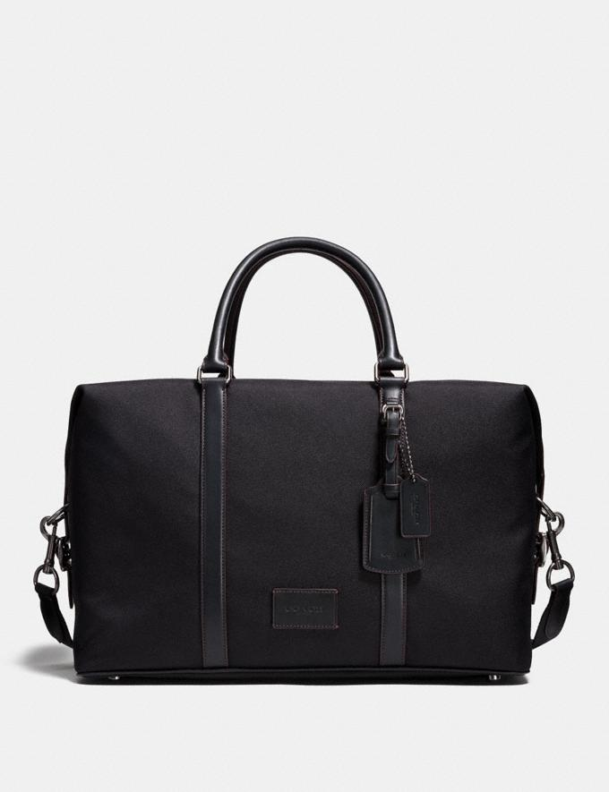Coach Explorer Bag Black/Black/Black Antique Nickel