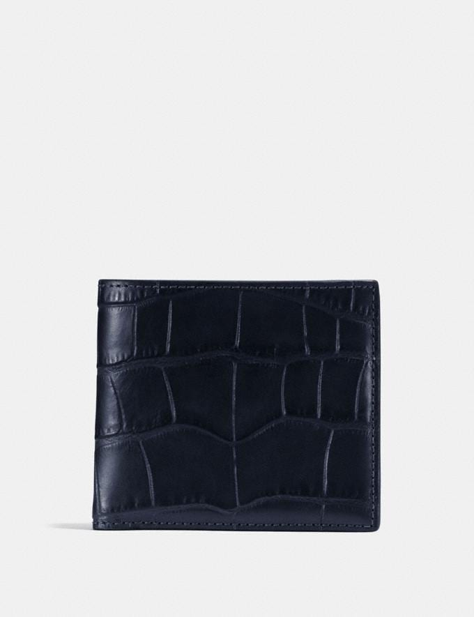 Coach Double Billfold Wallet Ink Men Wallets Billfolds