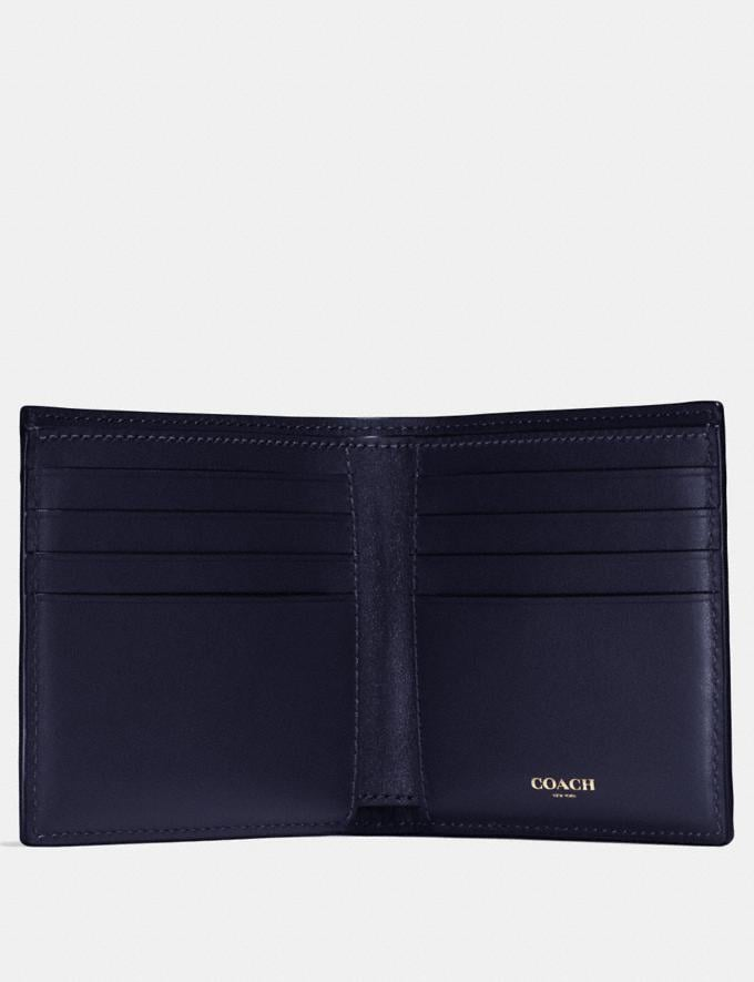 Coach Double Billfold Wallet Ink Men Wallets Alternate View 1