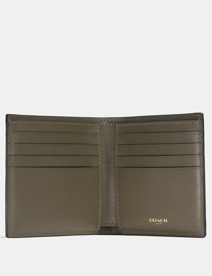 Coach Double Billfold Wallet Moss Men Wallets Billfolds Alternate View 1