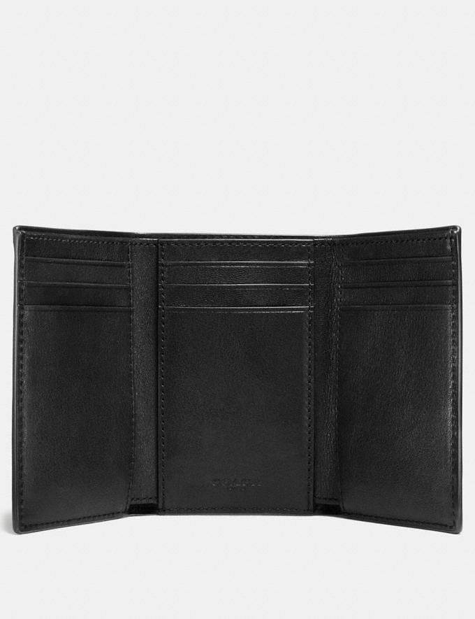 Coach Trifold Wallet Black New Men's New Arrivals Wallets Alternate View 1