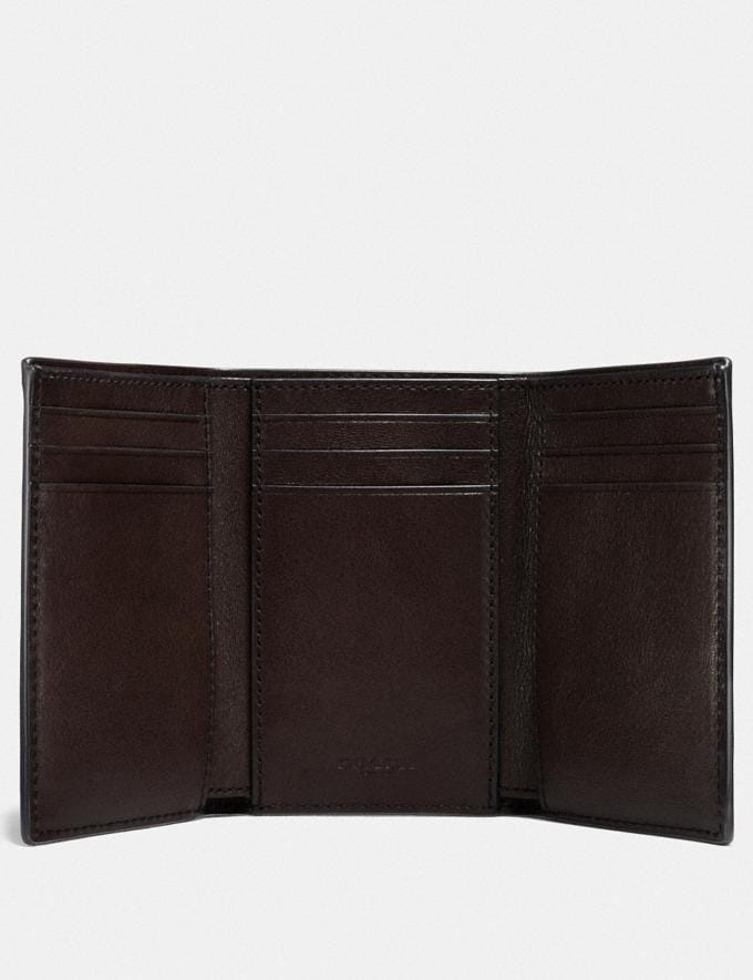 Coach Trifold Wallet Mahogany New Men's New Arrivals Wallets Alternate View 1