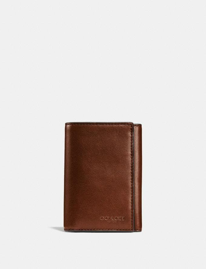 Coach Trifold Wallet Saddle New Men's New Arrivals Wallets