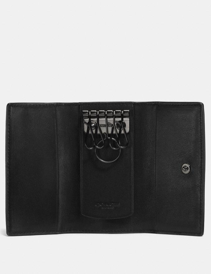 Coach Four Ring Key Case Black Gifts For Him Under $100 Alternate View 1