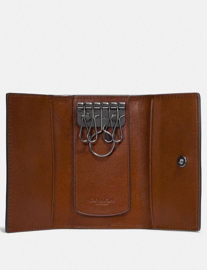 Coach Four Ring Key Case Saddle Men Accessories Travel Alternate View 1
