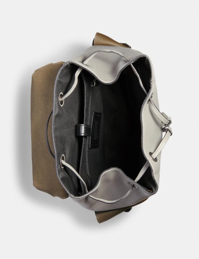 Coach Hudson Backpack in Colorblock Qb/Moss/ Grey/ Sandy Beige  Alternate View 1