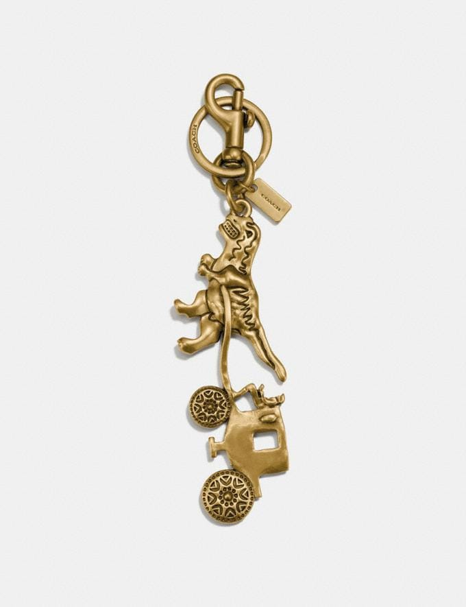 Coach Rexy and Carriage Bag Charm Gold/Gold