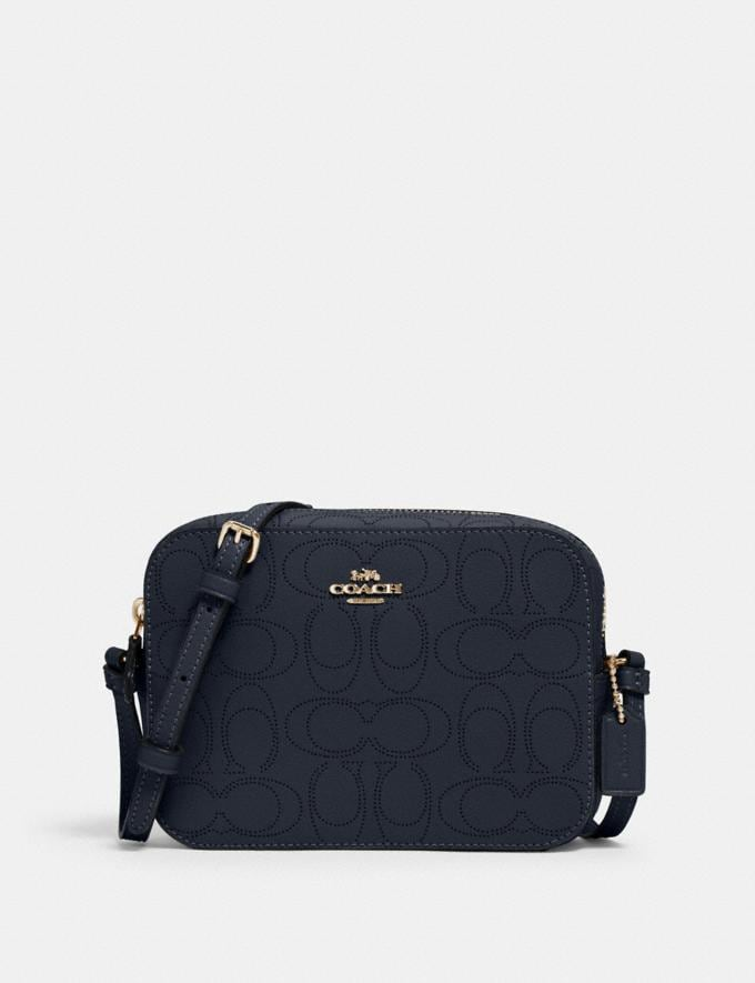 Coach Mini Camera Bag in Signature Leather Im/Midnight