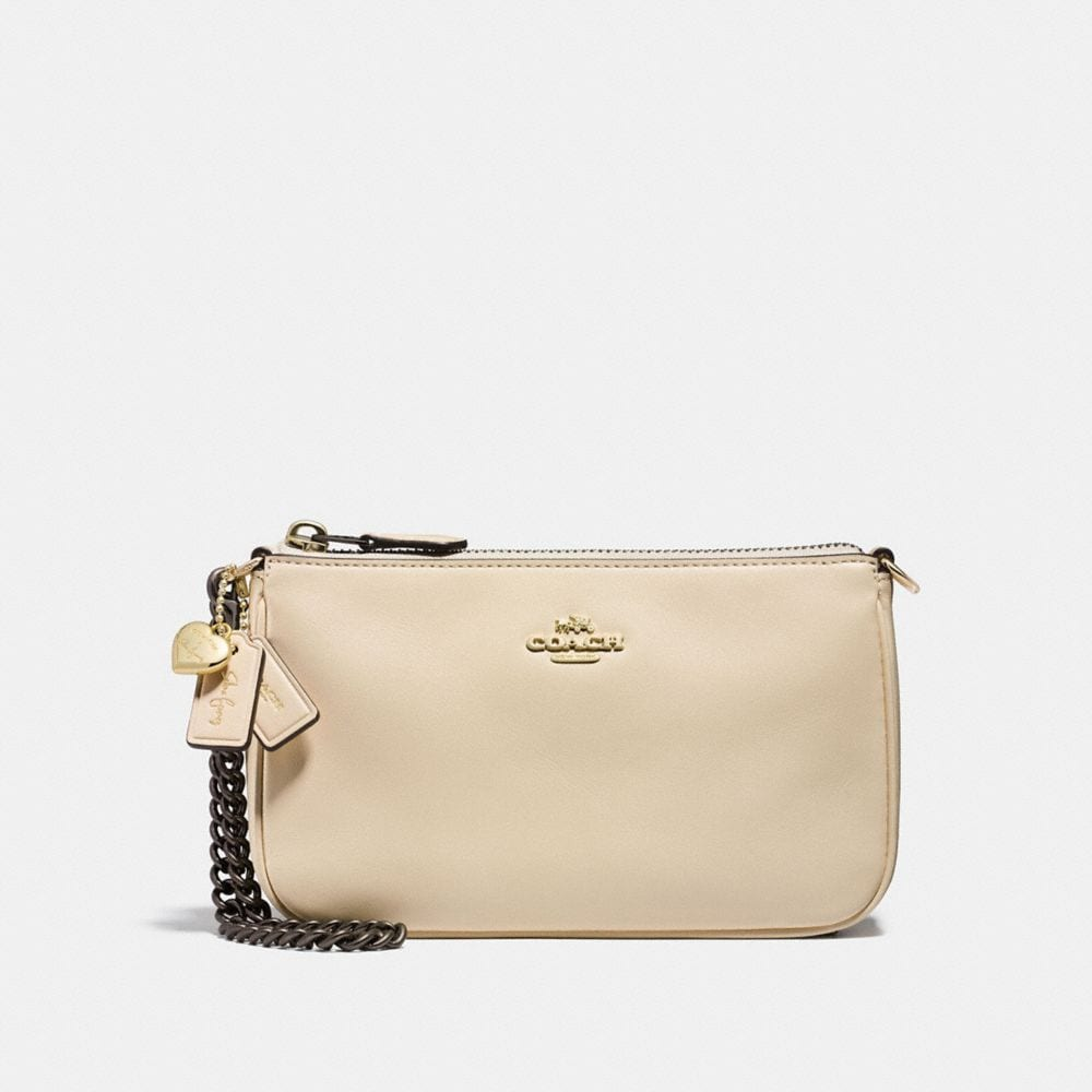 SELENA WRISTLET 19 IN REFINED CALF LEATHER