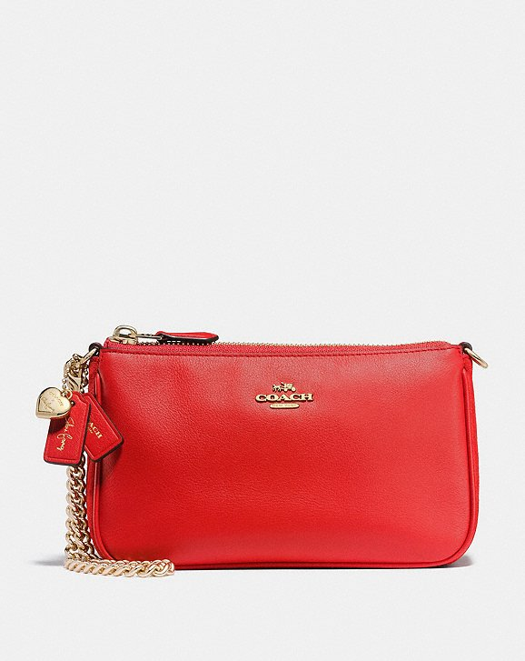 Coach red handbag