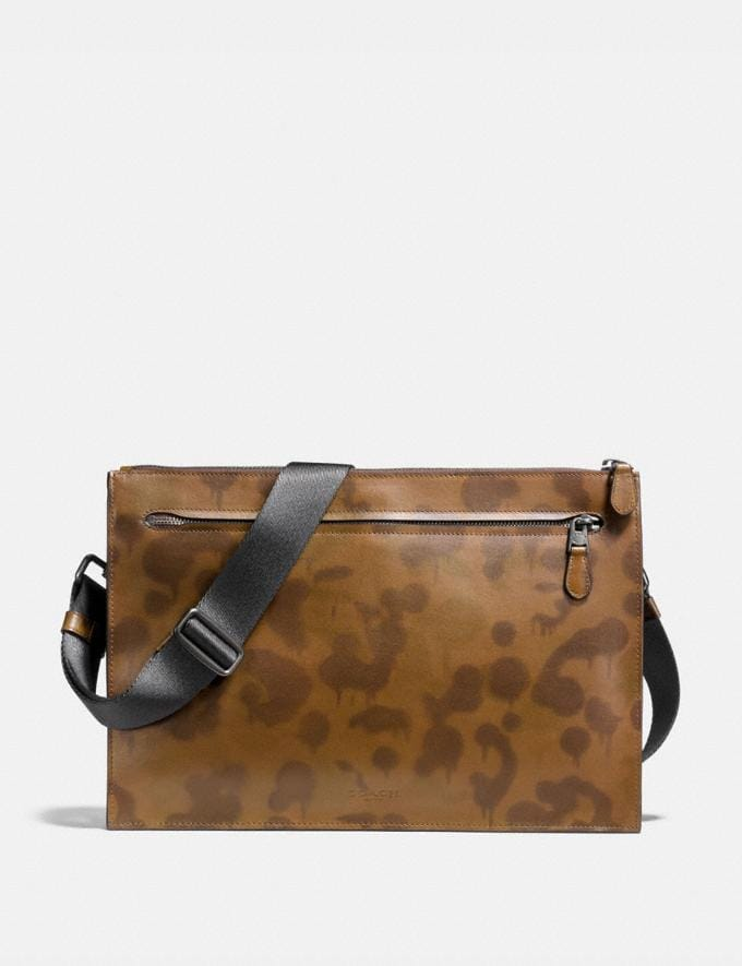 Coach Manhattan Convertible Slim Messenger With Wild Beast Print Surplus/Black Copper Men Bags View All