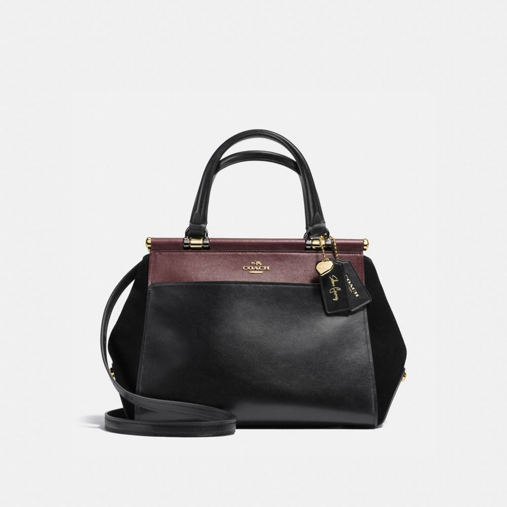 SELENA GRACE BAG IN COLORBLOCK MIXED LEATHERS