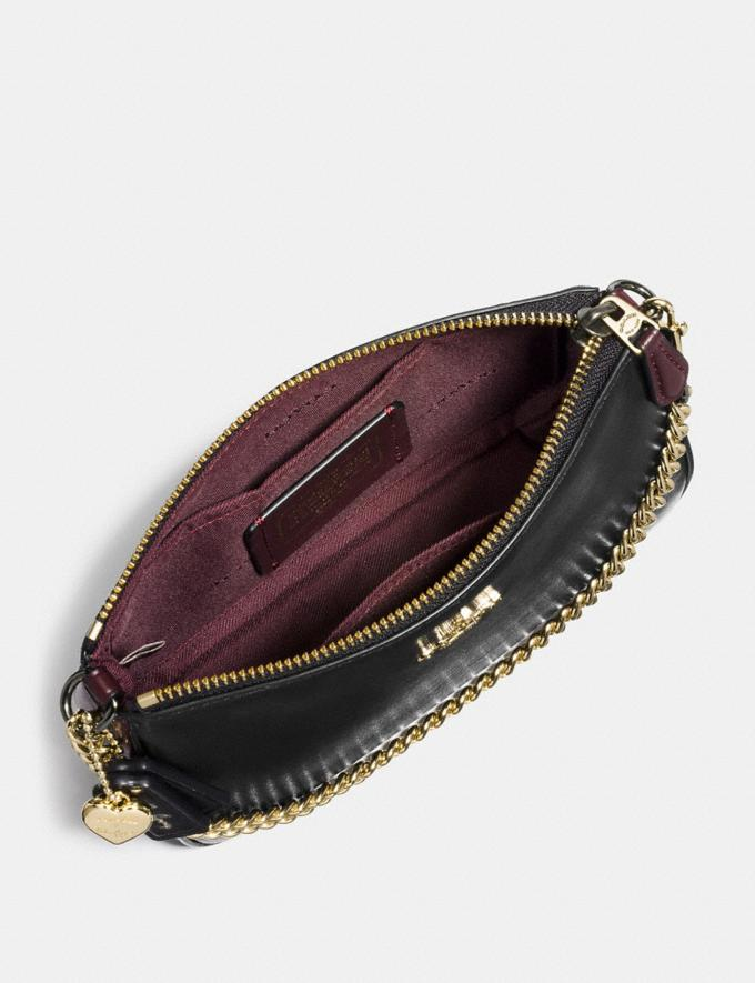 Coach Selena Wristlet 19 in Colorblock Selena Black Cherry/Light Gold Gifts For Her Bestsellers Alternate View 2