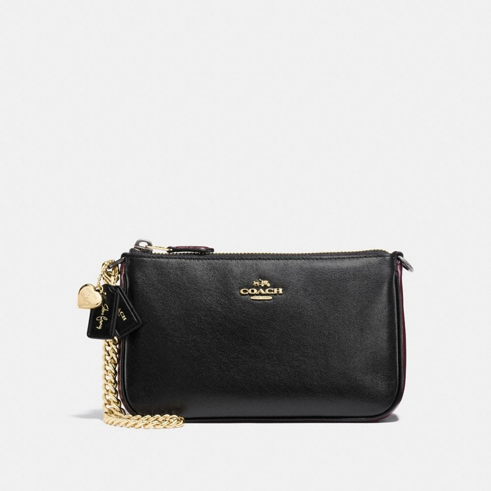 SELENA WRISTLET 19 IN COLORBLOCK LEATHER