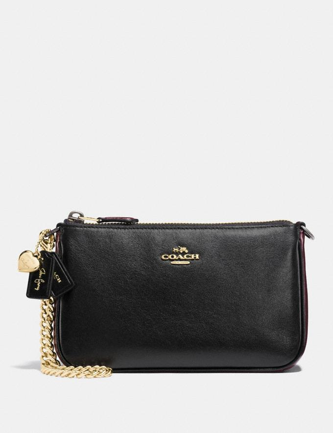 Coach Selena Wristlet 19 in Colorblock Selena Black Cherry/Light Gold Gifts For Her Bestsellers