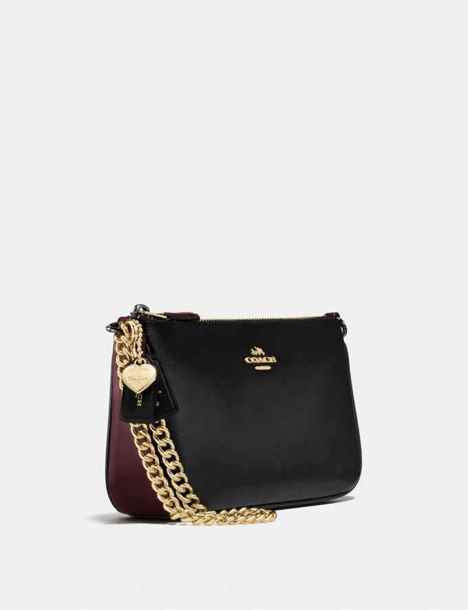 Coach Selena Wristlet 19 in Colorblock Selena Black Cherry/Light Gold Gifts For Her Bestsellers Alternate View 1