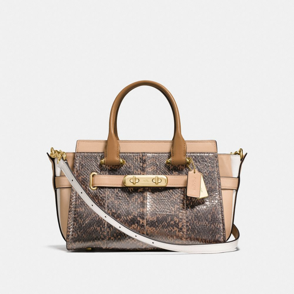 Coach Coach Swagger 27 in Pearlized Snakeskin