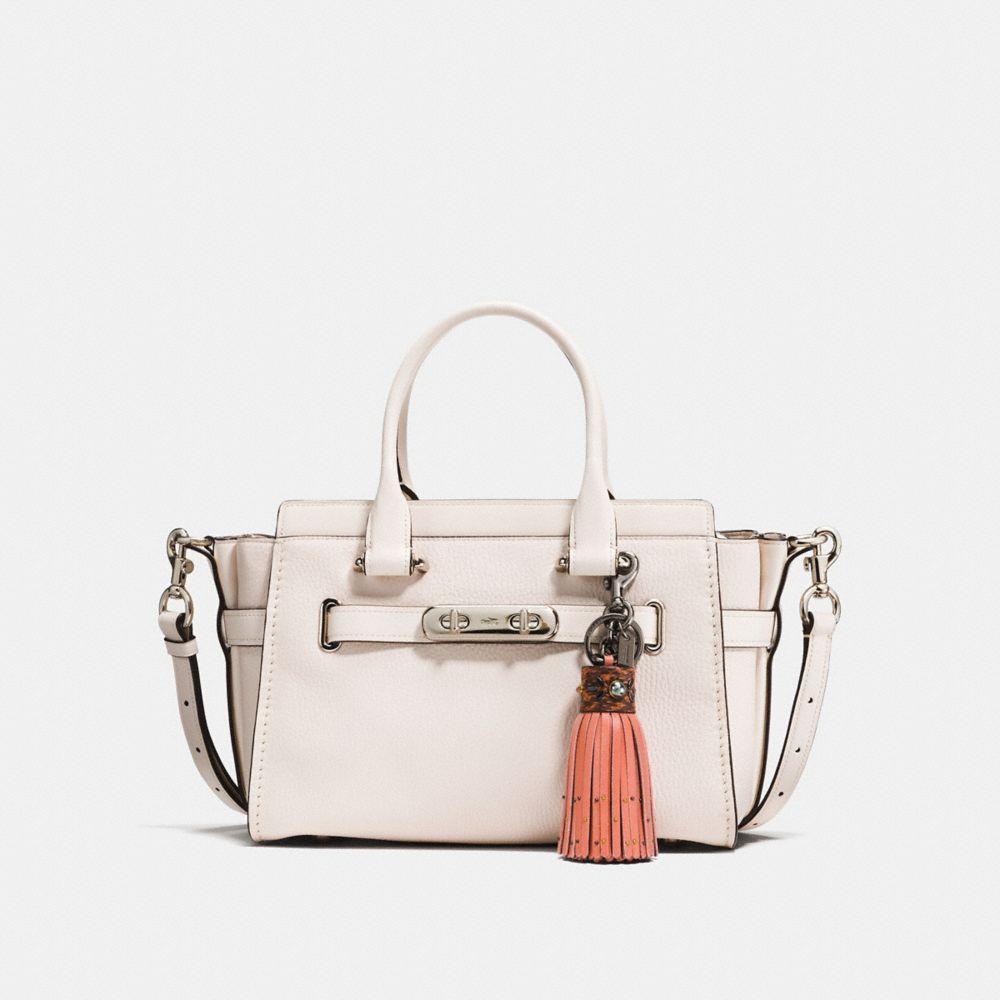 Coach Snakeskin Tassel Bag Charm Alternate View 1