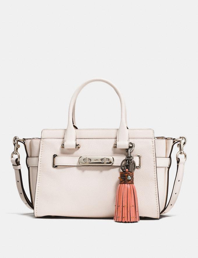 Coach Snakeskin Tassel Bag Charm Melon/Black CYBER MONDAY SALE Women's Sale Accessories Alternate View 1