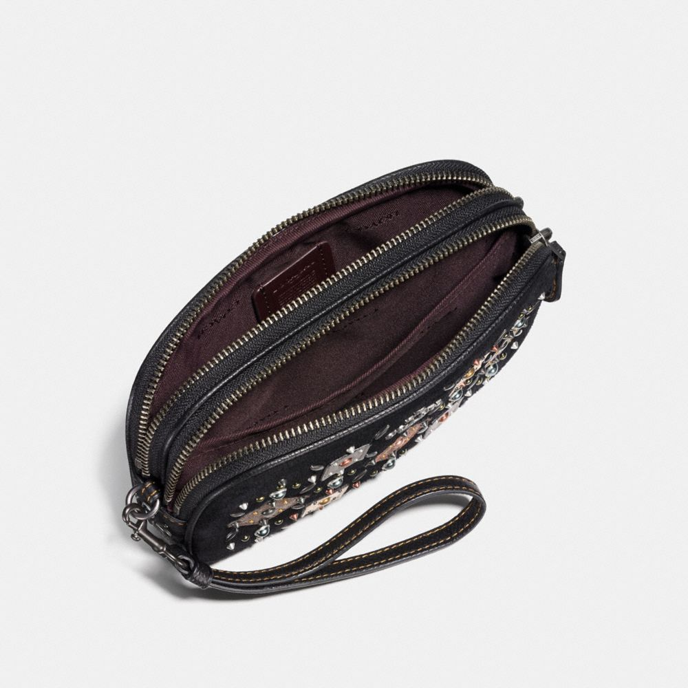 Coach Crossbody Clutch With Prairie Rivets and Snakeskin Detail Alternate View 2