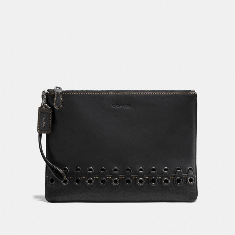 Coach Pouch With Coach Link Detail