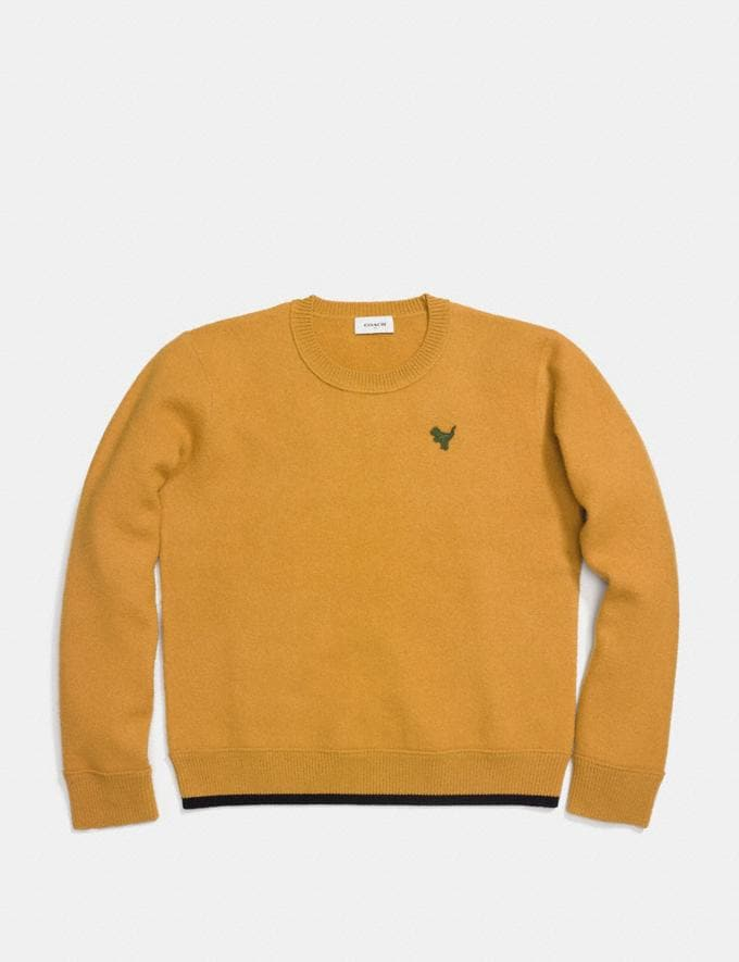 Coach Felted Rexy Patch Sweater Gold Men Ready-to-Wear Apparel Alternate View 1