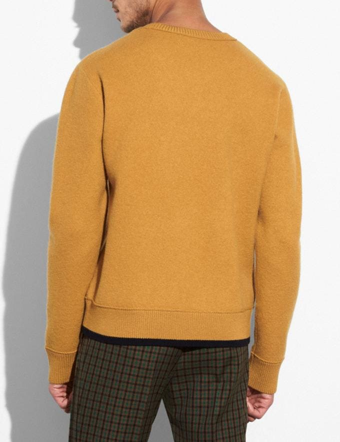 Coach Felted Rexy Patch Sweater Gold Men Ready-to-Wear Apparel Alternate View 2
