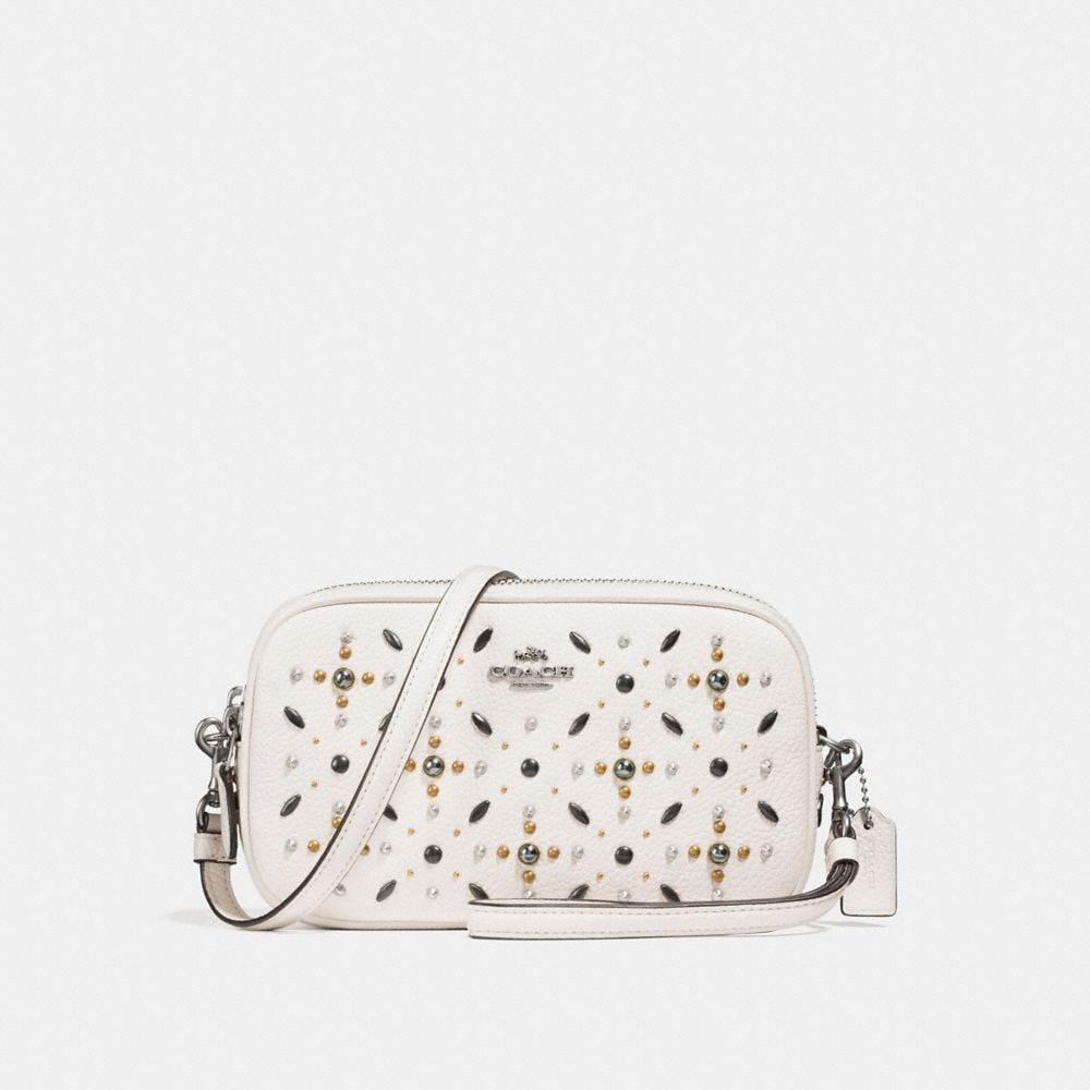 Coach Crossbody Clutch With Prairie Rivets
