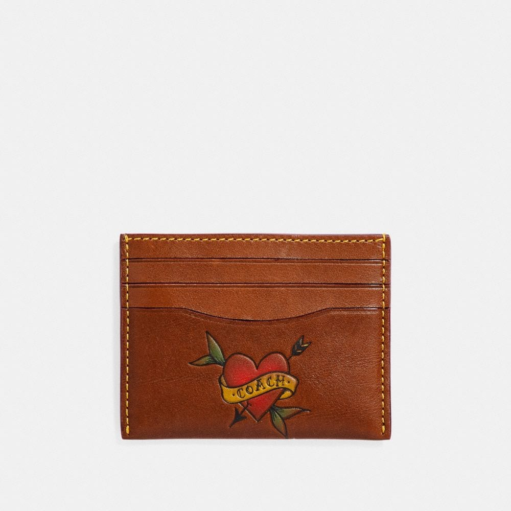 Coach Card Case With Tattoo