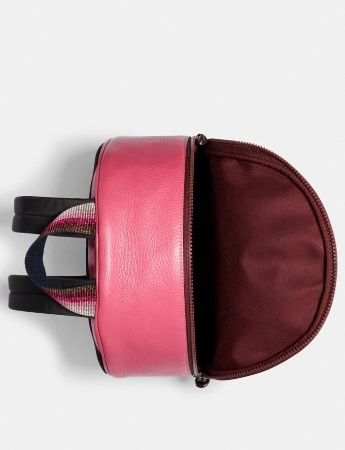 Coach Vale Medium Charlie Backpack Qb/Dark Pink Women Bags Alternate View 1