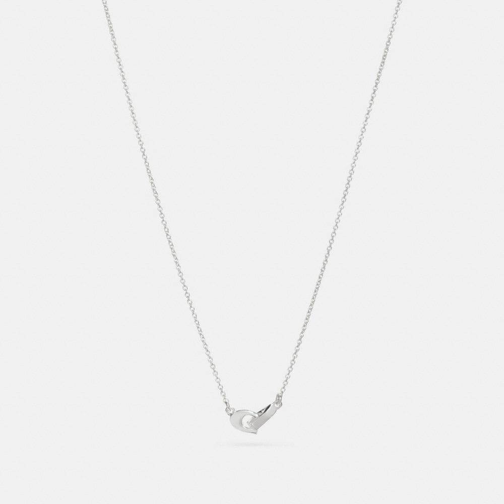 Coach Signature Chain Pendant Necklace
