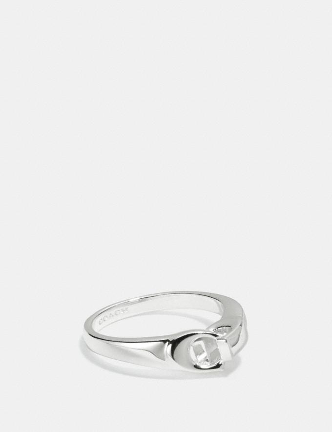 Coach Signature Chain Link Ring Silver SALE Women's Sale Accessories