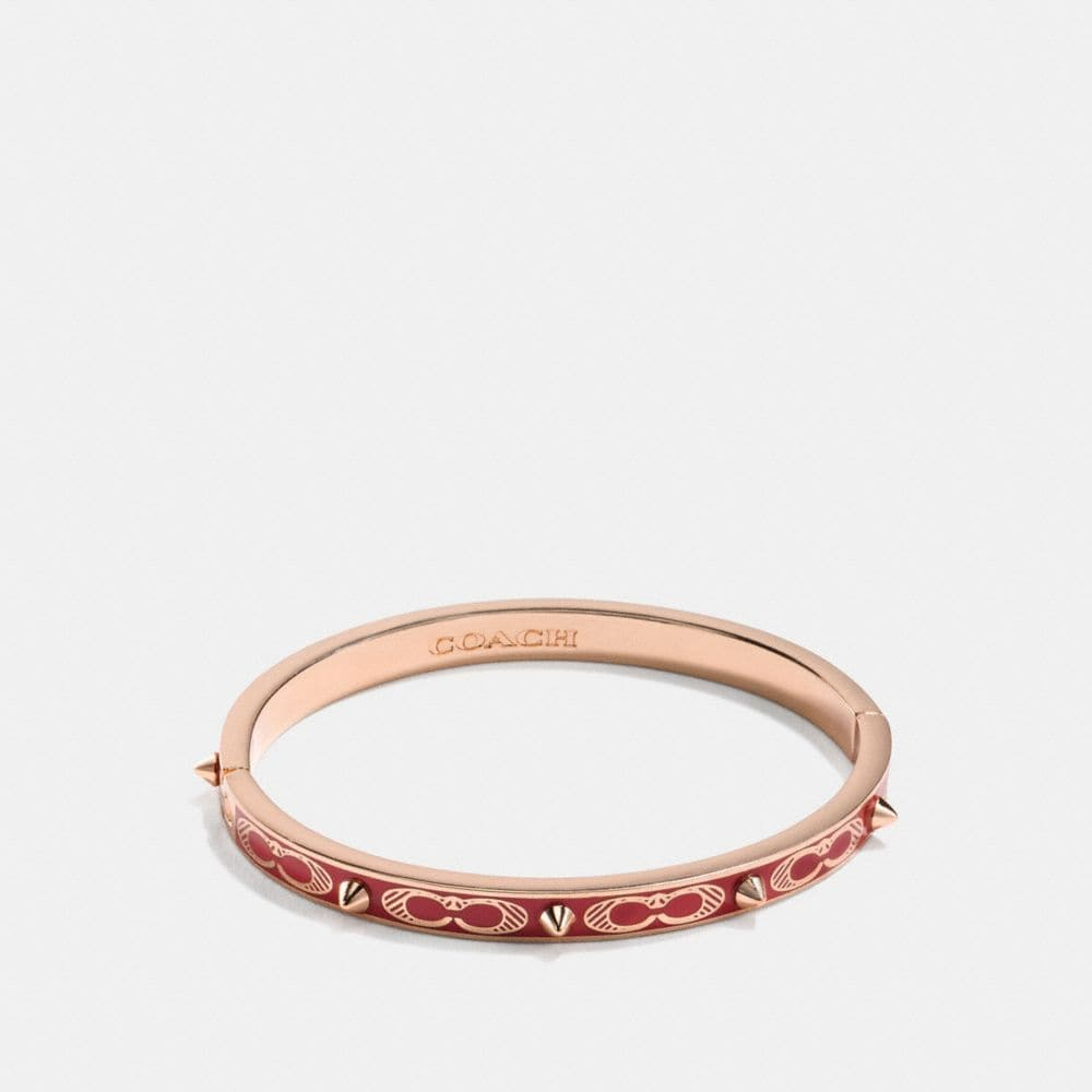 Coach Signature Studded Bangle