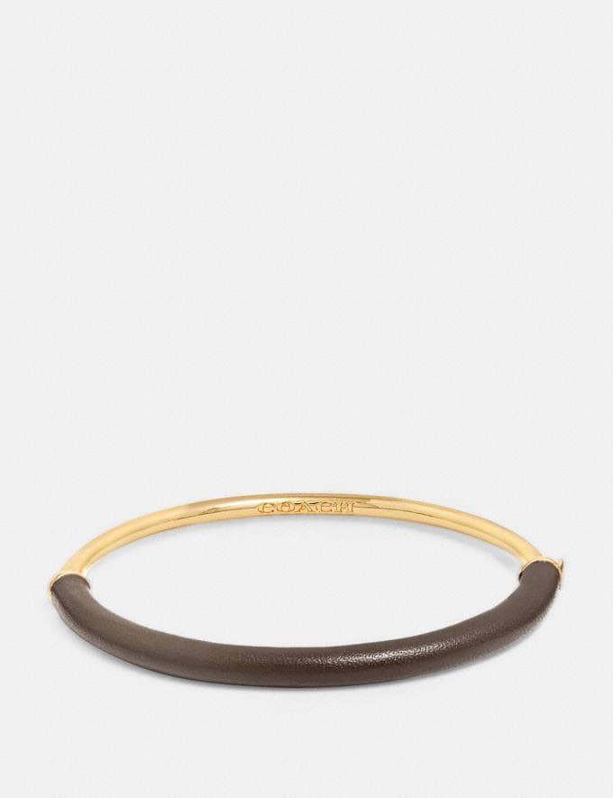 Coach Wrapped Bangle Saddle/Gold CYBER MONDAY SALE Women's Sale 30 Percent Off