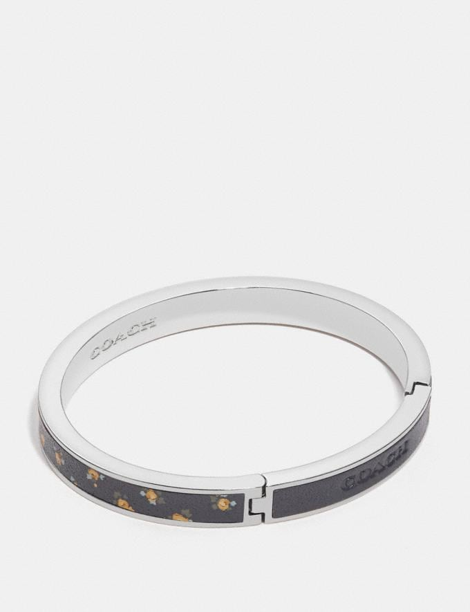 Coach Printed Hinged Bangle Jasmine/Gold