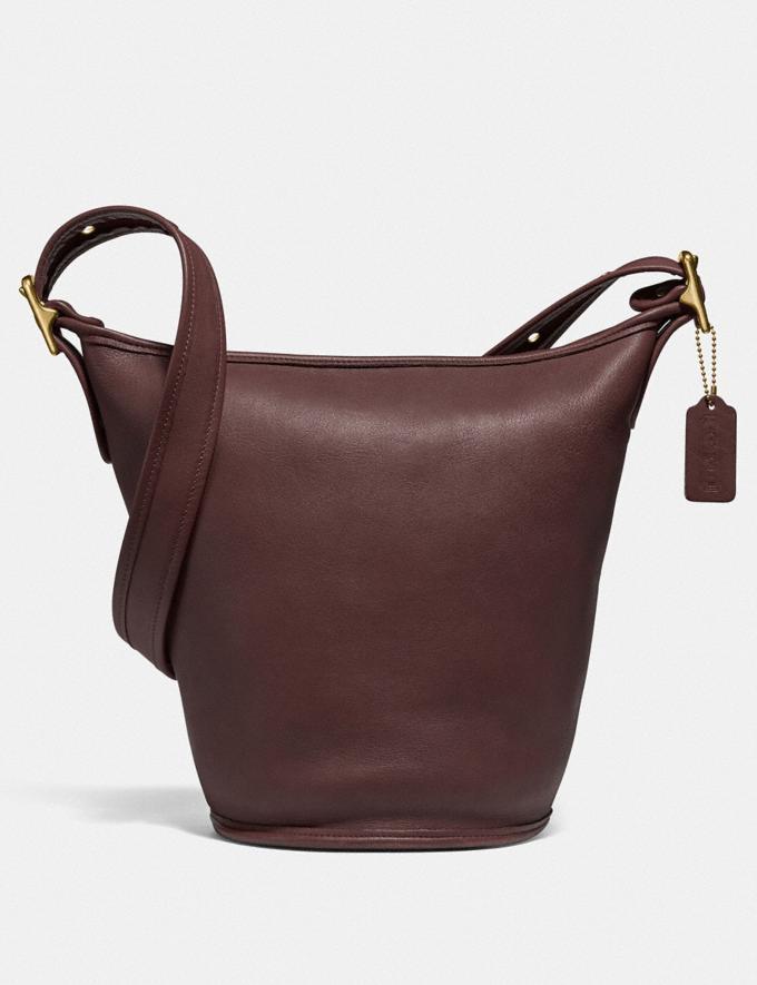 Coach Restored Duffle 13 Brass/Oxblood New Women's New Arrivals Bags