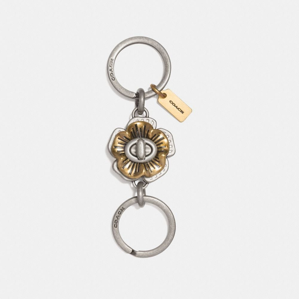 Coach Tea Rose Turnlock Valet