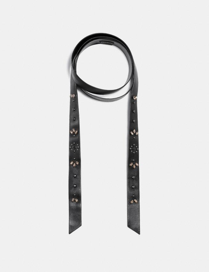 Coach Prairie Rivets Neck Scarf Black/Silver Staff Sale Women's Sale Jewellery