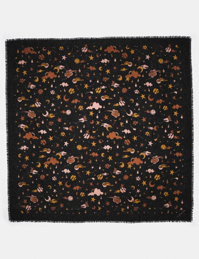 Coach Outerspace Print Oversized Square Black Multi