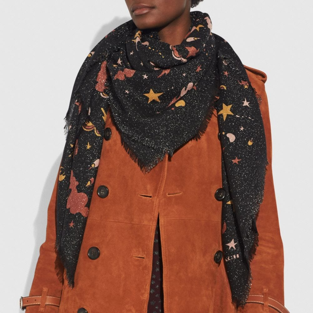 Coach Outerspace Print Oversized Square Alternate View 1