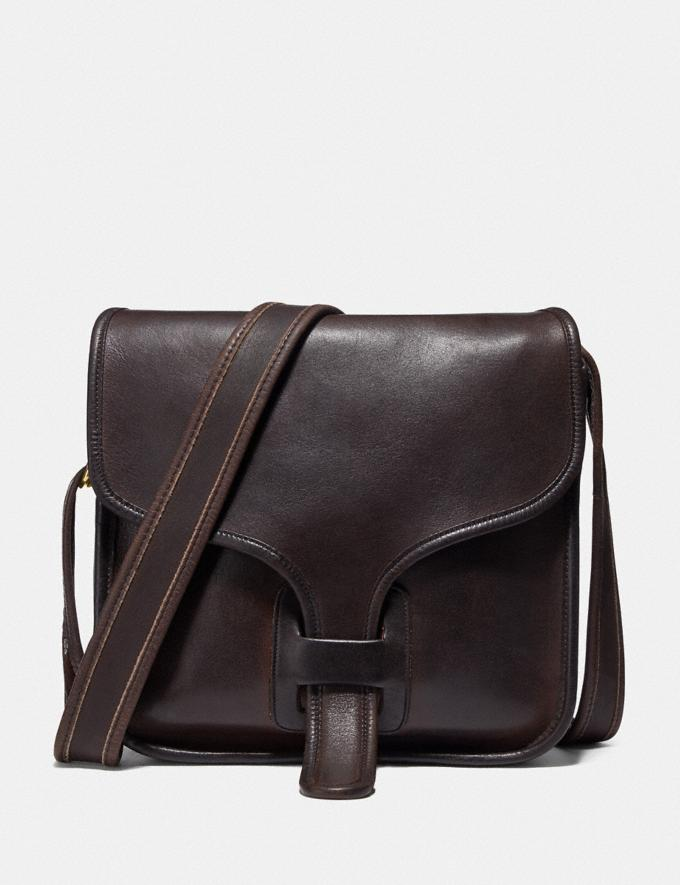 Coach Restored Courier Bag Brass/Mahogany New Women's New Arrivals Bags