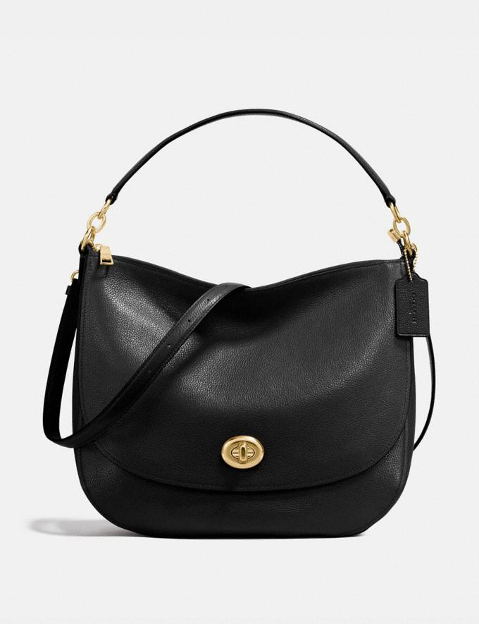 Coach Turnlock Hobo Li/Black