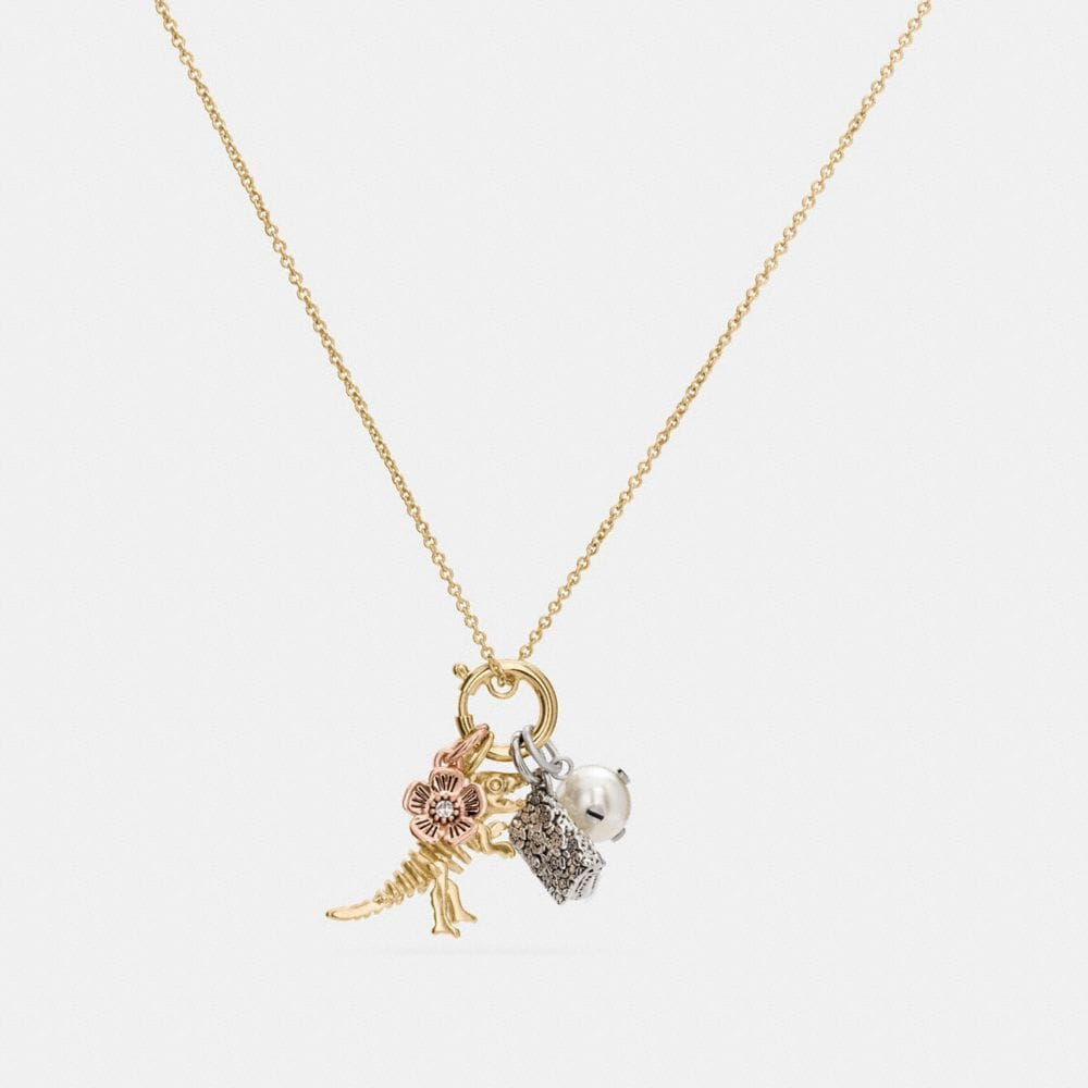 Coach Rexy Charm Collectible Necklace Set