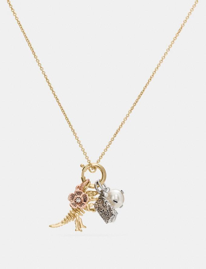 Coach Rexy Charm Collectible Necklace Set Gold/Silver