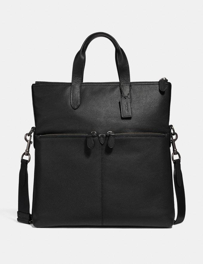 Coach Metropolitan Utility Tote Black Antique Nickel/Black