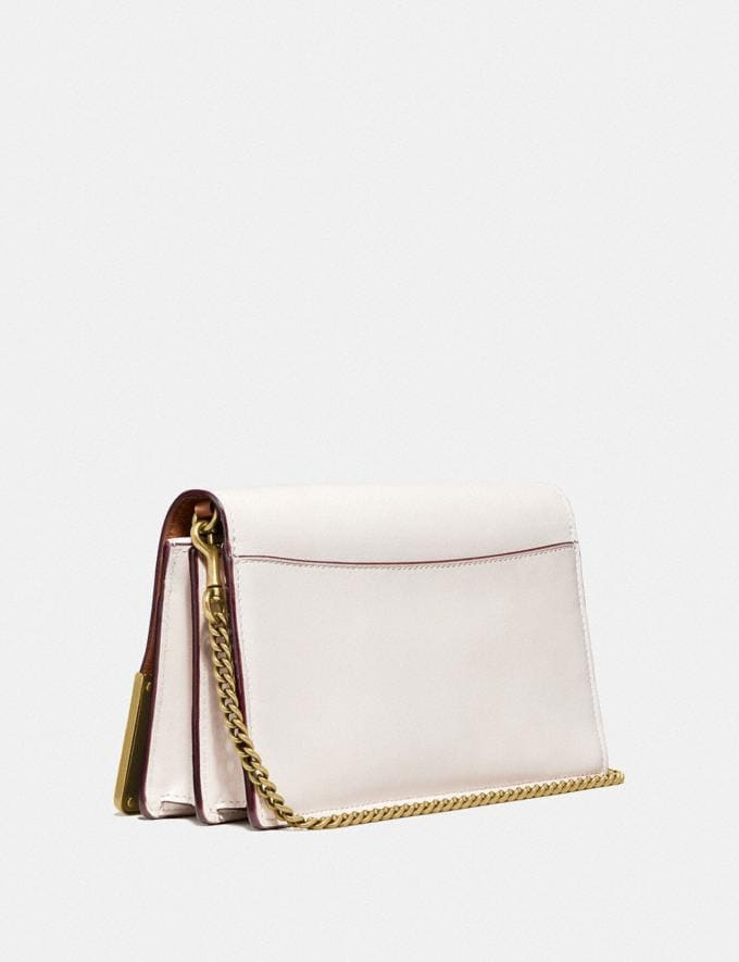 Coach Callie Foldover Chain Clutch With Metal Tea Rose Chalk/Brass Women Bags Crossbody Bags Alternate View 1