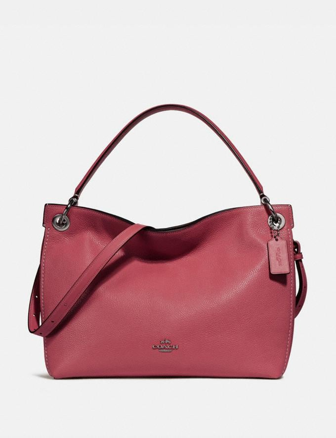Coach Clarkson Hobo Washed Red/Dark Gunmetal CYBER MONDAY SALE Women's Sale 30 Percent Off